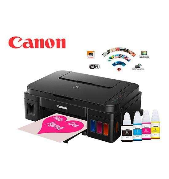 Impresora Canon Multifuncional G3100 Con Sistema Tinta Continua, Wifi, Impresión Ultra Fina