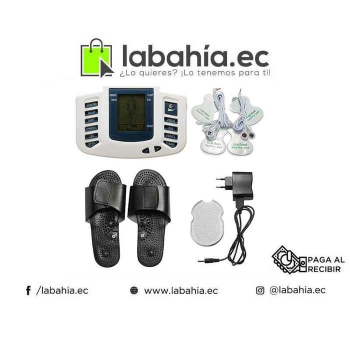 Electroestimulador 4 Electrodos Con Zapatillas