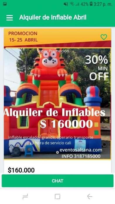 Alquiler de Inflables Fiesta Cali