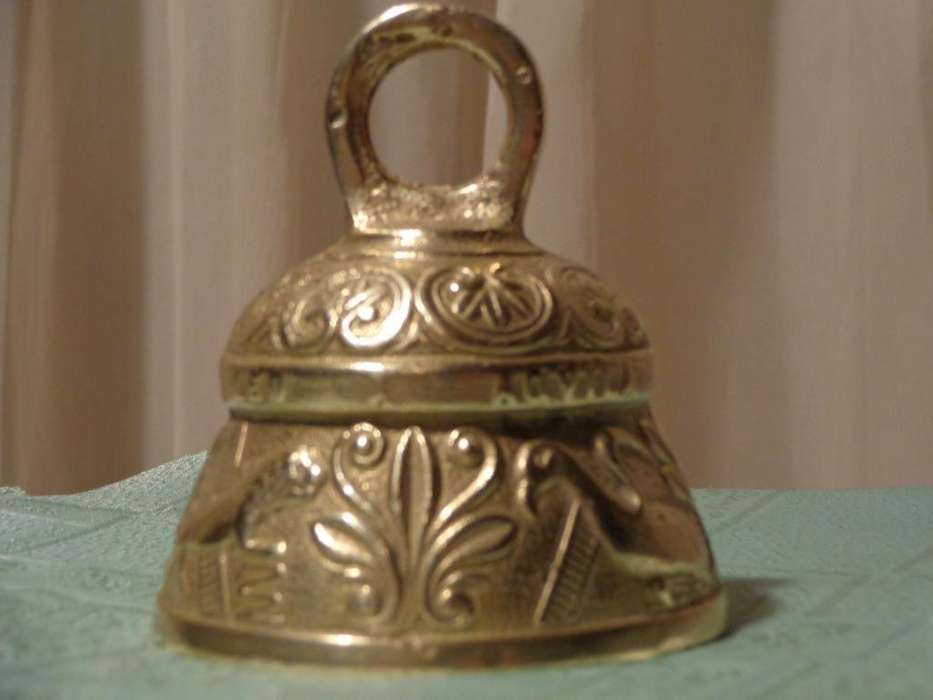 Antigua <strong>campana</strong> Bronce Labrada Pelicanus Angelus..