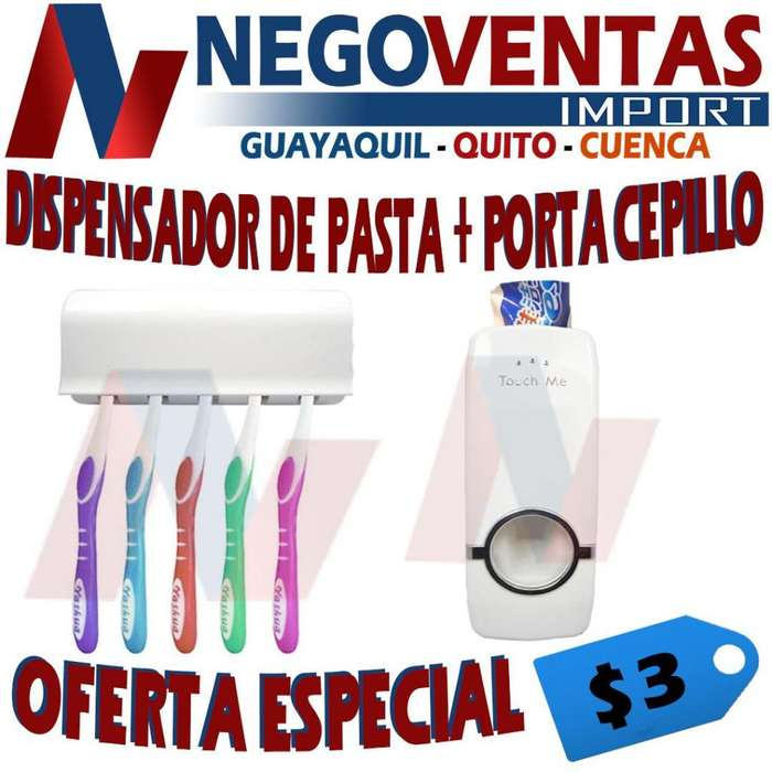 DISPENSADOR DE PASTA PORTA CEPILLO