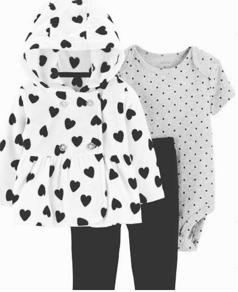 Little jacket set Corazón -3 piezas