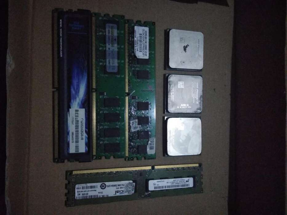 Procesadores Amd Y Memorias Ram