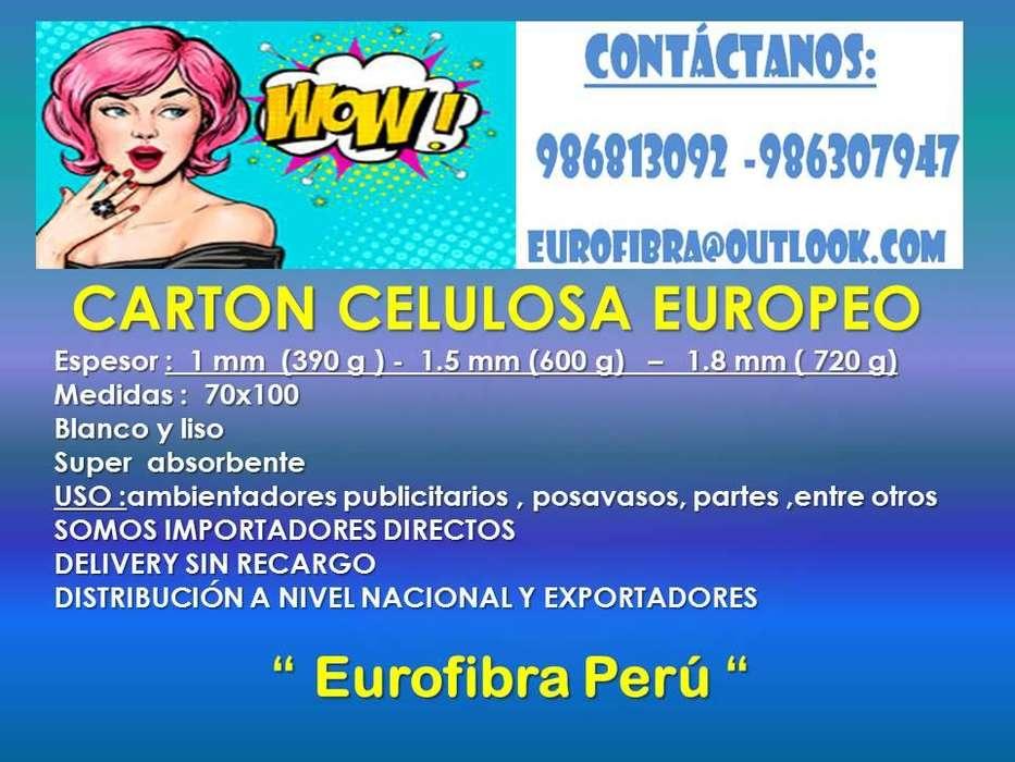 CARTON CELULOSA PARA AMBIENTADORES PUBLICITARIOS