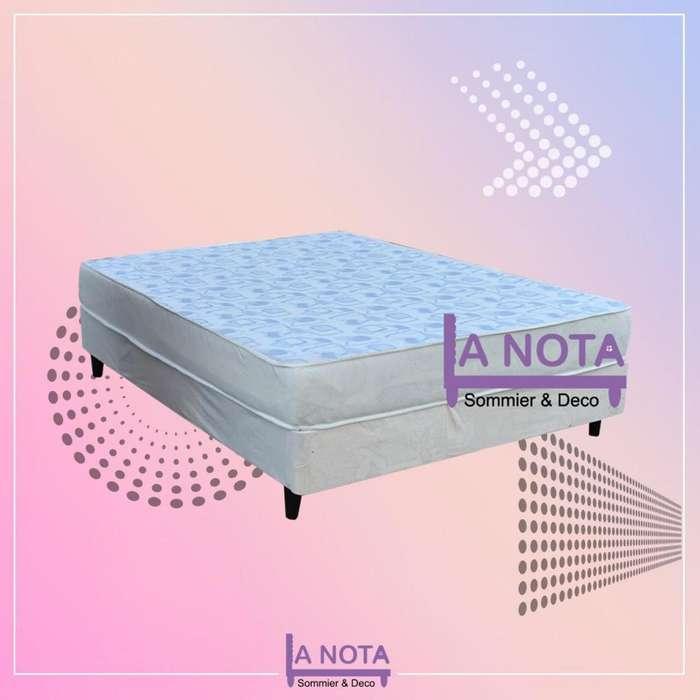Sommier dos plazas sommier reforzado somier <strong>cama</strong> 2 plasa espuma alta densidad sin resorte 130x190