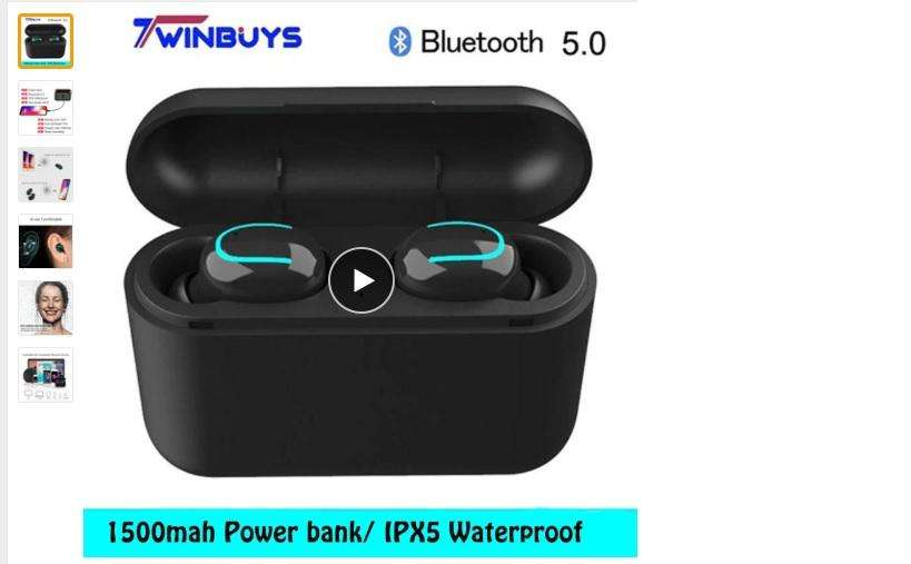 Auriculares <strong>bluetooth</strong> Twinbuys 5,0 Tws