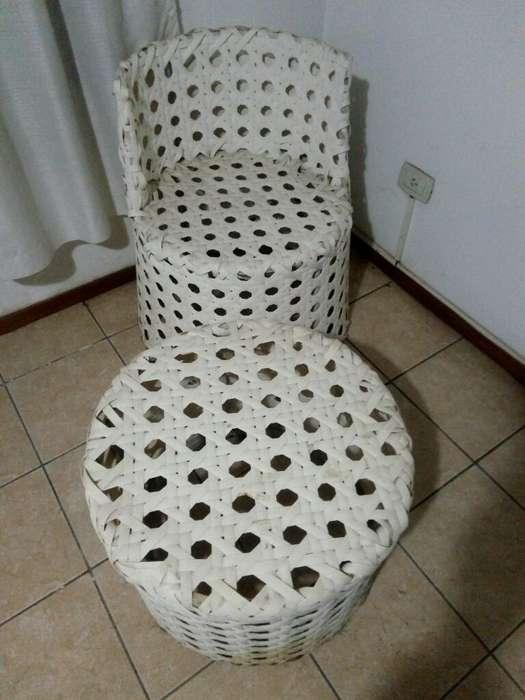 Mesa Ratona Y <strong>silla</strong> de Ratan sin Uso