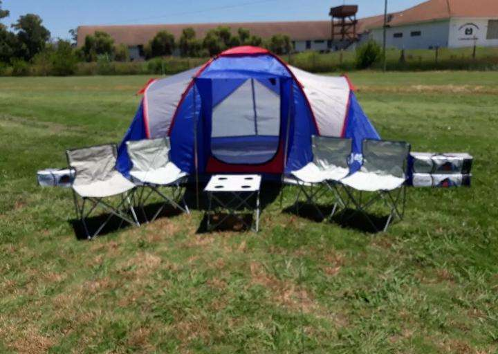 Combo Carpa 4/6 Personas Eden sillas Mesa Camping Oferta