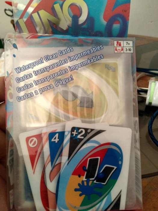 Cartas Uno H20 Plasticas Kit