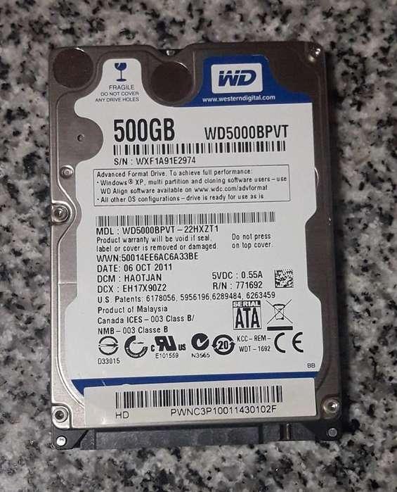 Disco Notebook 500 Gb Western Digital Blue