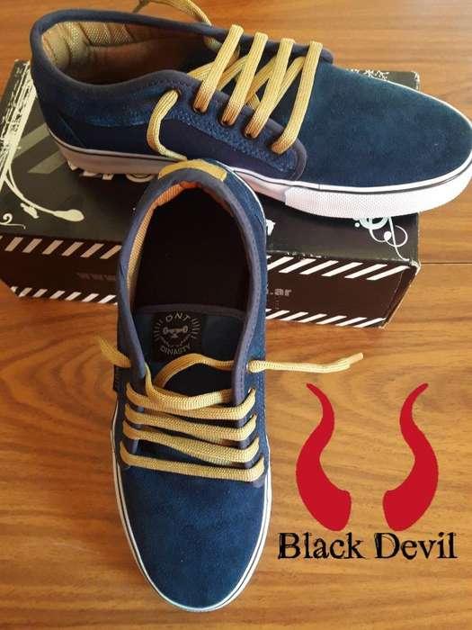 Zapatillas Hombre Gamusada Azules 41