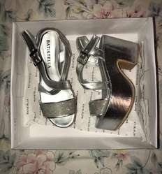 Zapatos Plateados Batistella