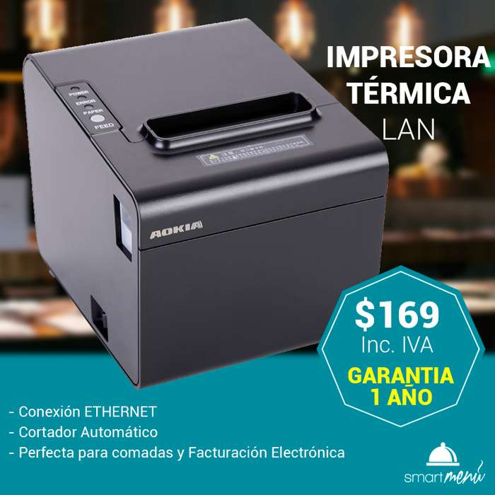 Impresora Térmica para COMANDAS ó FACTURACIÓN ELECTRÓNICA