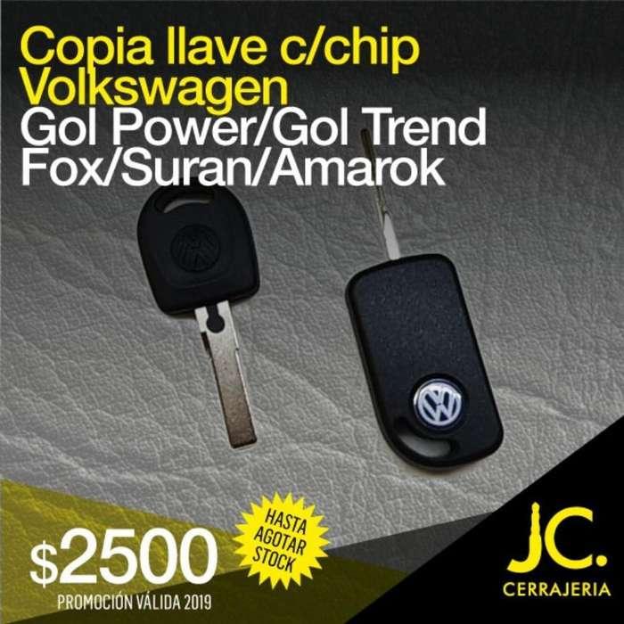 Copia Llave con Chip Volkswagen