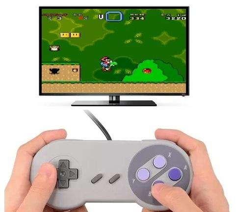 Control Usb Super Nintendo Snes Para Computador Laptop Tv Box