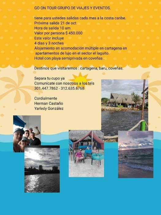 Gran Salida El 21 de Oct hacia Cartagena