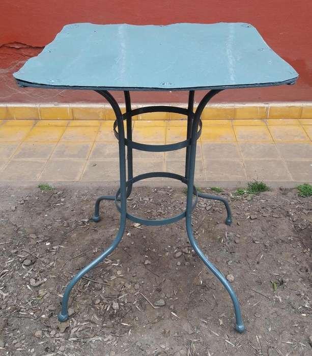 mesa de jardin antigua boliche