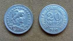 Moneda de 20 reis Brasil 1920