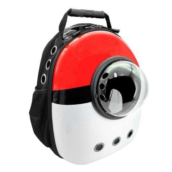 Mochila Para Transportar Llevar Gato Perro Mascota Pokemon Pokeball