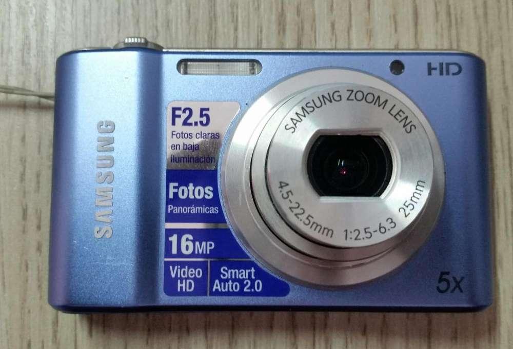 camara st66 samsung color azul 16 mp full HD video 5X
