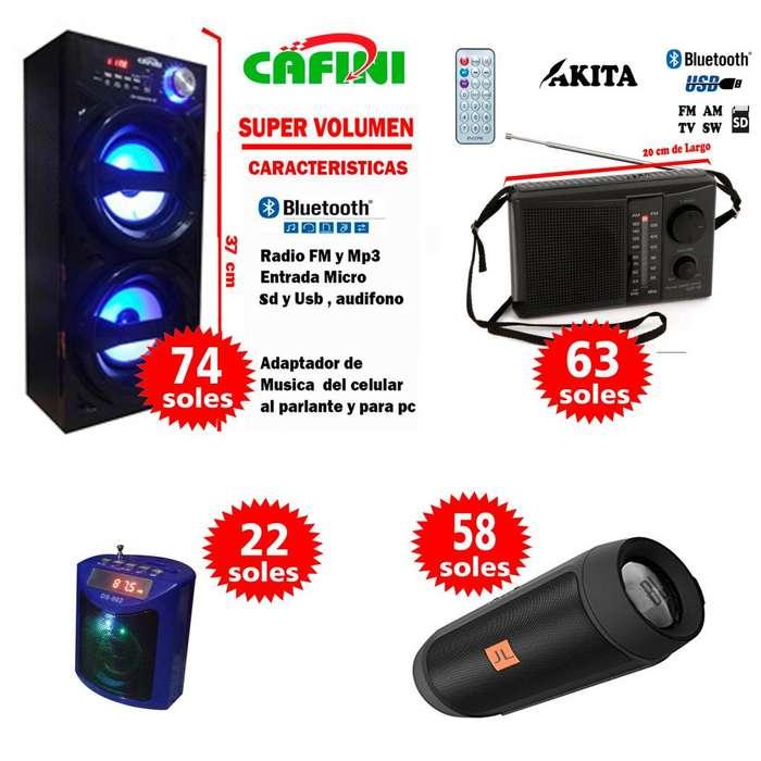 Radio Parlante Bluetooth portatil karaoke Mp3 Usb Oferta