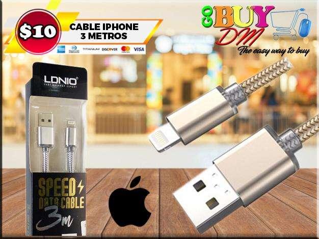 CABLE DE DATOS IPHONE ORIGINAL 3 MTS LDNIO LS31
