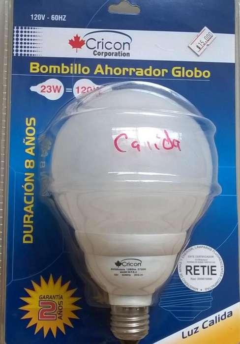 Bombillo Globo Luz Blanca o Cálida Nuevo