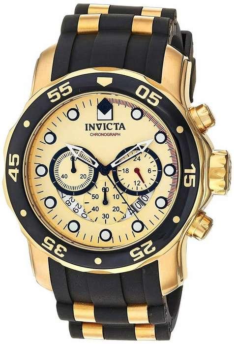 Reloj Invicta Pro Diver deportivo. dorado, negro. Relojes hombre Fossil Diesel