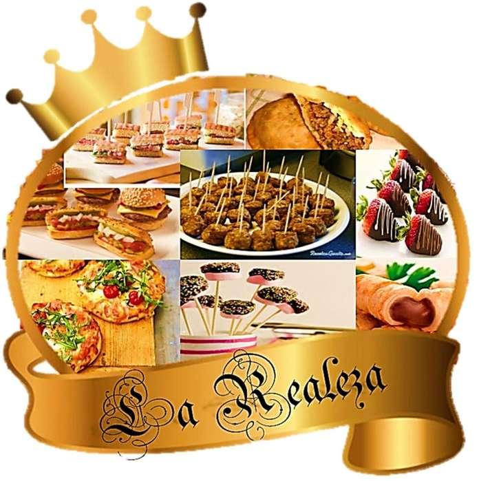 Servicio de pasabocas y platos principales LA REALEZA