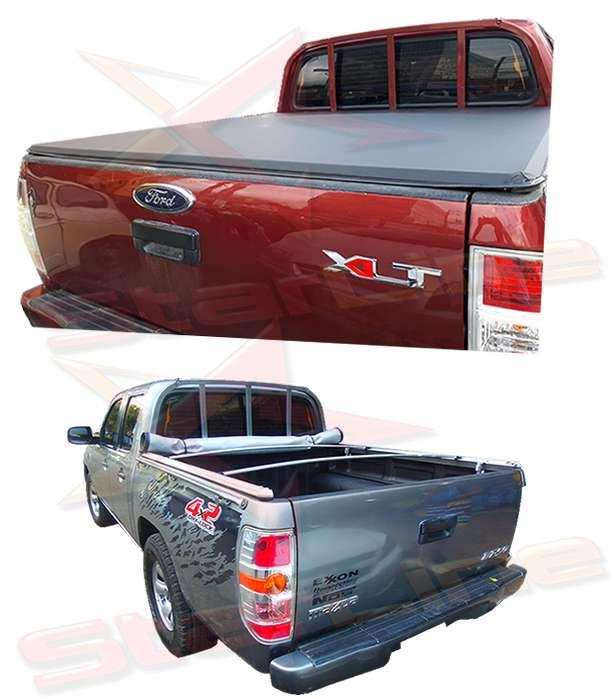 Carpa Plana Ford Ranger XLT Lona Con Marca Enrollable Riel Aluminio Camioneta Ref MC117 ¡Envío Gratis!