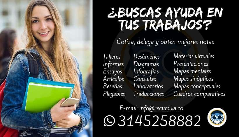 Trabajos,Talleres,Quiz,Parciales,Ensayos,Reseñas,Cálculo,Física,Álgebra,Matemáticas,Estadística 3145258882