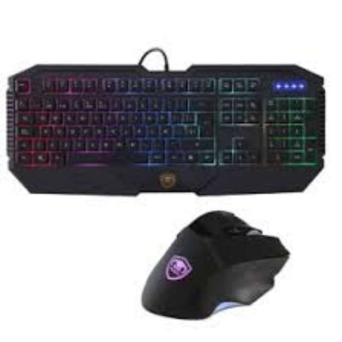 Kit Gamer Mouse Teclado Y Auriculares