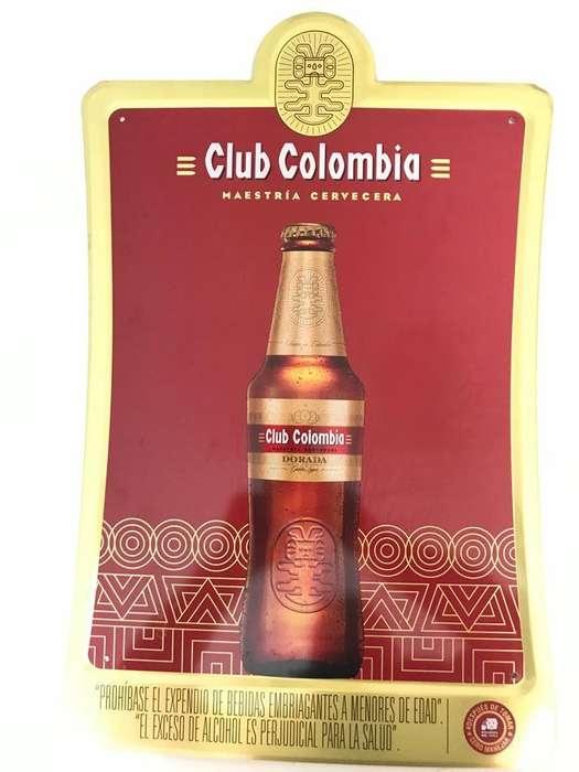 VENDO Aviso metálico Club Colombia colección