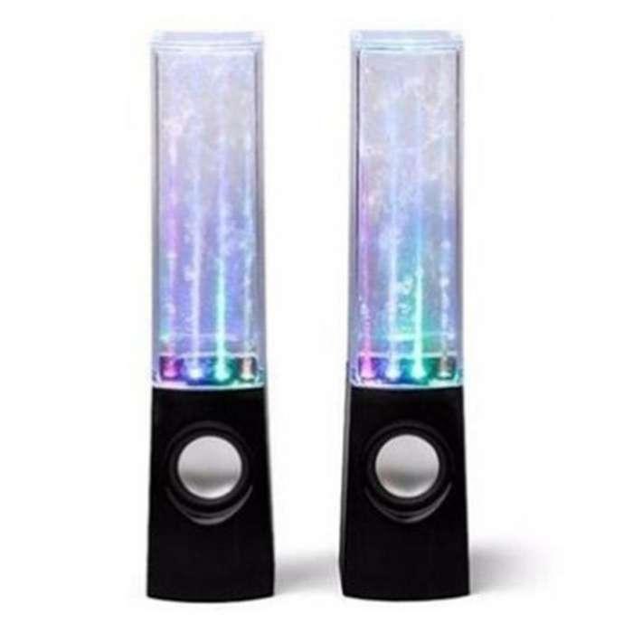 Parlante De Agua Ritmica Con Luces Led En Caja