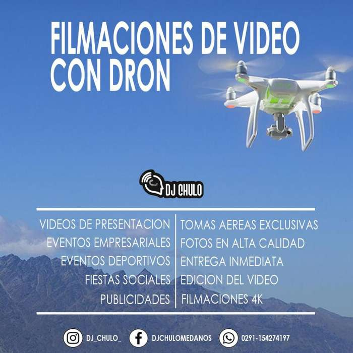Servicio de video con dron