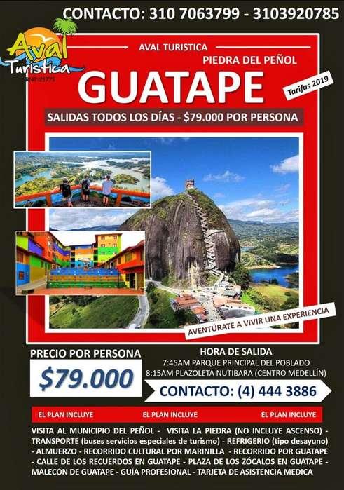 TOUR GUATAPÉ Salidas todos los días 79.000 por persona