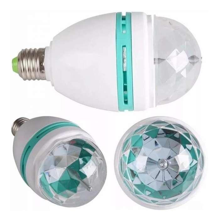 Lámpara Boliche Kanji Led Colores Base Giratoria 1.5w 220v