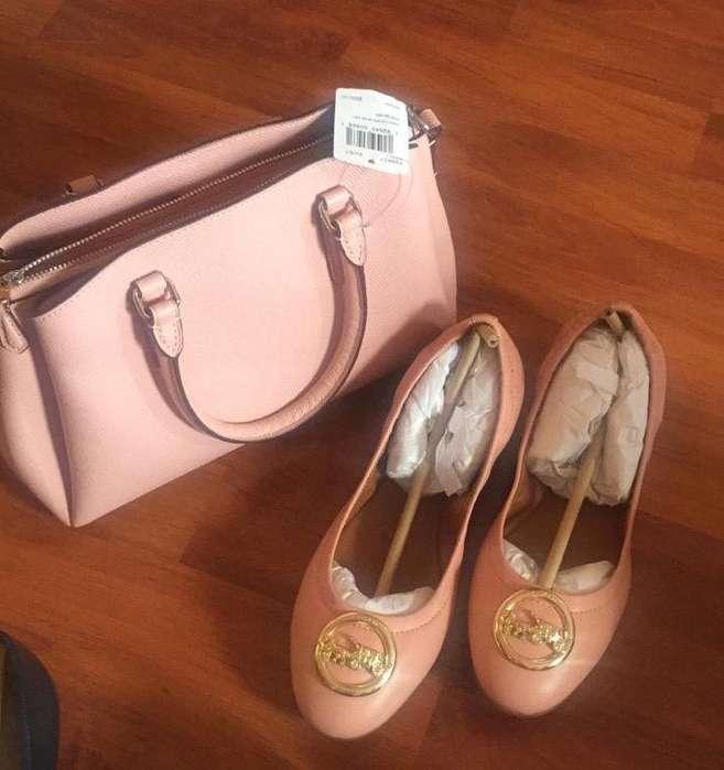 Zapatos Y Cartera Coach Originales Nuevo