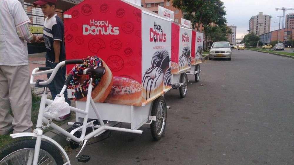 vendo triciclos y trailers para venta de donuts