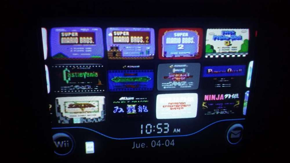 Wii con juegos retro instalados nintendo leer