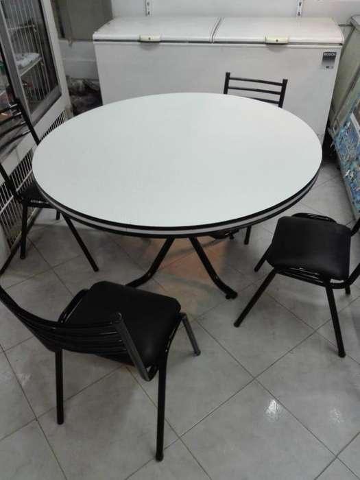 <strong>mesa</strong> y 4 sillas IMPRESIONANTE PRECIO!!