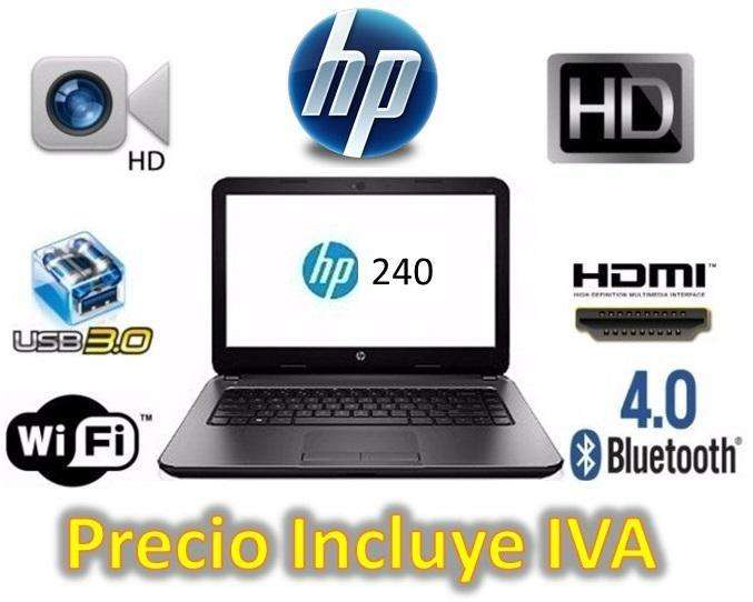 Portatil <strong>laptop</strong> Hp 240 G6 Intel Celeron 4gb 500gb I3 i5 i7 PRECIO INCLUYE IVA ENTREGA A DOMICILIO