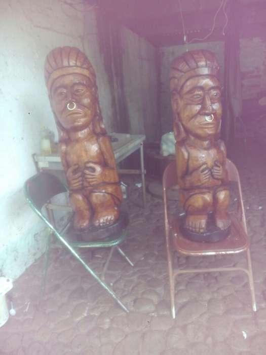 Se Venden Esculturas Indigenas en Madera