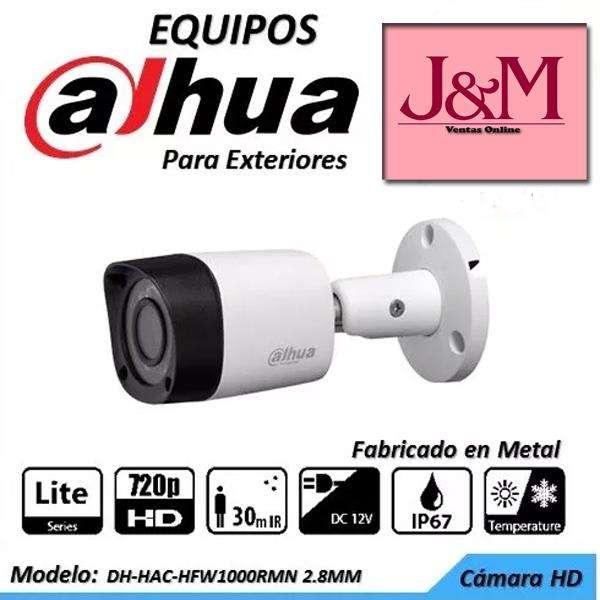 Camara Vigilancia Exterior Tubo Dahua Hd 720p Cctv Metalica