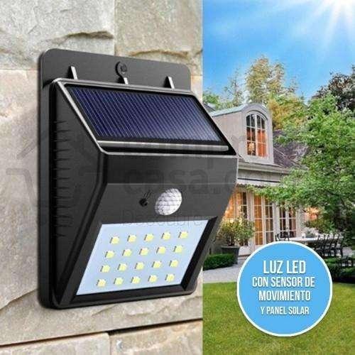 Luz de Emergencia Lampara Con Sensor de Movimiento Recarga Solar