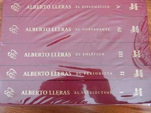 Alberto Lleras Antologia Homenaje 5 Tomos Villegas Editores