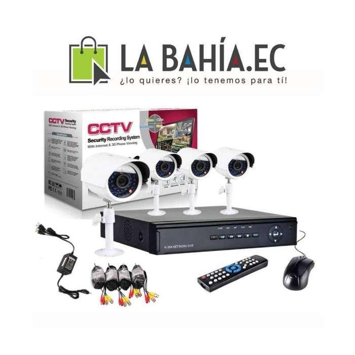 Kit 4 Camaras de seguridad y Vigilancia 700TVL
