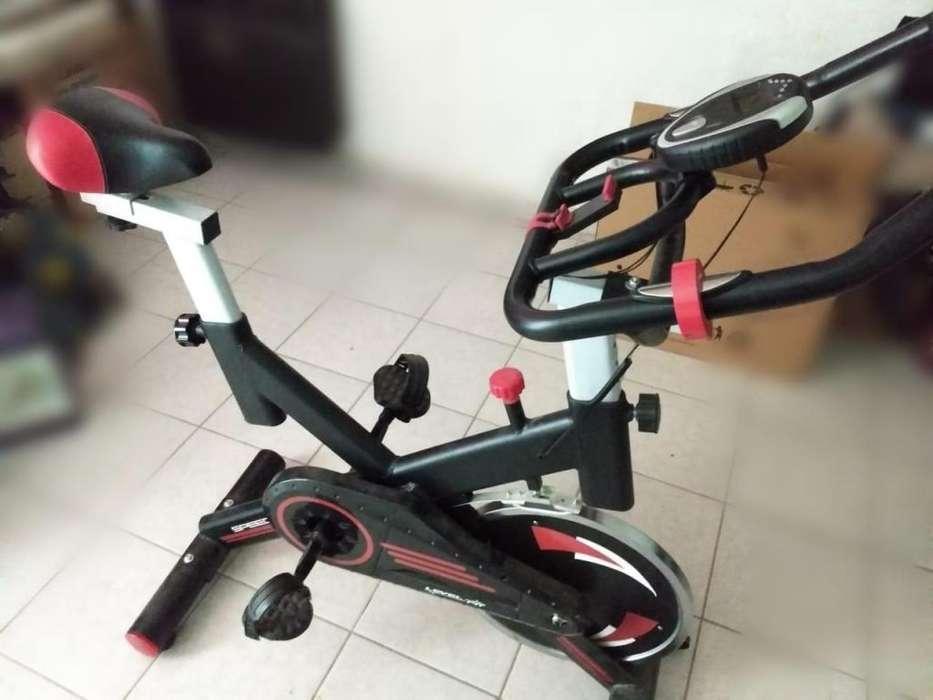 Bicicleta De Spinning Disco Inercia 13 Kg Semi Profesional