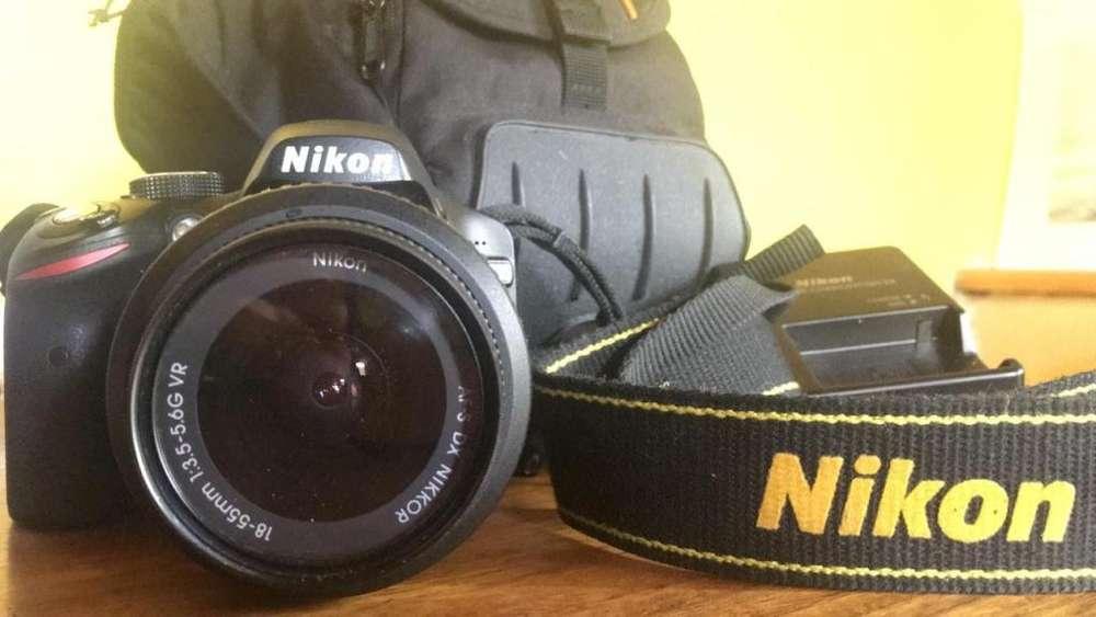 Vendo Camara Nikkon 3200 con 4300 disparos.