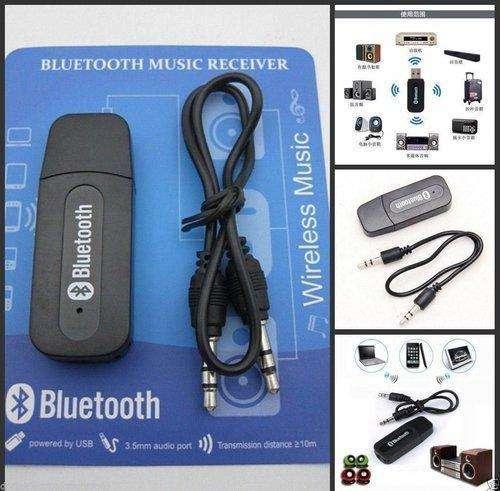 Receptor Bluetooth Audio Usb Auxiliar Recargable 3.5mm